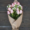 The Bouqs Volcano Collection 'Above and Beyond' Original Pink Rose Flower Bouquet