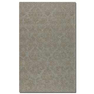 Uttermost St. Petersburg Light Blue Wool Rug (5' x 8')