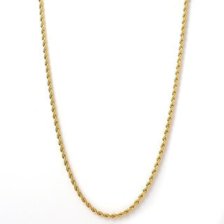 Goldplated Stainless Steel Men's Rope Necklace