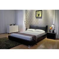 Greatime Home Tilted Upholstered Low Platform Bed