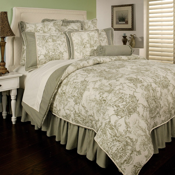 Shop Sherry Kline Country Toile Green 6 Piece Comforter