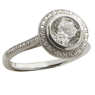 Gems For You Sterling Silver Cubic Zirconia Ring