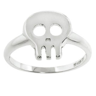 Eternally Haute Sterling Silver Skull Ring