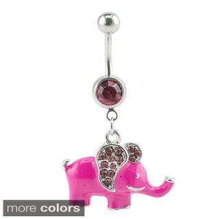 Supreme Jewelry Crystal Elephant Belly Ring