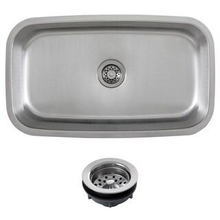 Phoenix 30-inch Stainless Steel 18-gauge Undermount Single Bowl Kitchen Sink