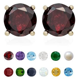 Dolce Giavonna Gold Over Silver Gemstone Birthstone Stud Earrings (Option: September)|https://ak1.ostkcdn.com/images/products/9089872/P16279280.jpg?impolicy=medium