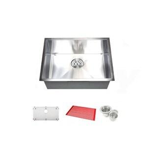 26-inch Single Bowl Undermount Zero Radius Kitchen Bar Island Sink