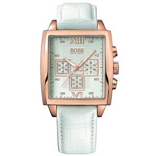 Hugo Boss Men's 1502221 Classic White Leatherette Watch