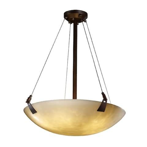 Justice Design Clouds Tapered Clips 6-light Dark Bronze Round Bowl Pendant