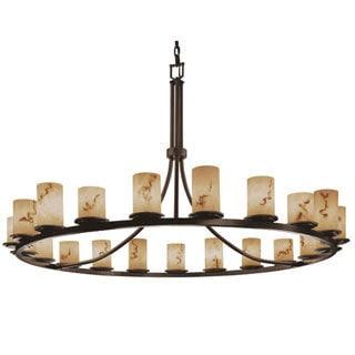 Justice Design Group LumenAria 21-light 1-Tier Dark Bronze Chandelier