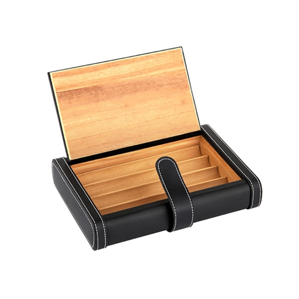 Leather and Cedar Travel Cigar Box