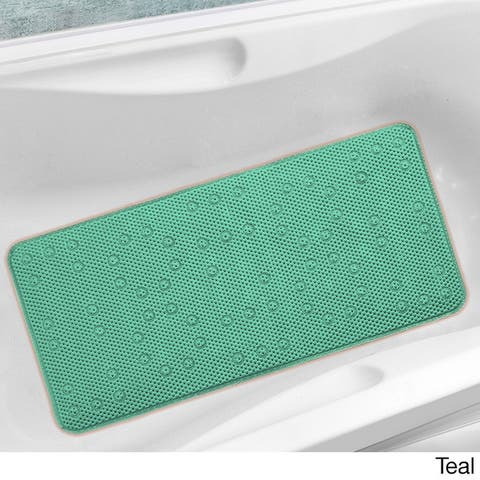 Antibacterial Cushioned Waffle Bathtub Mat - 17 x 36 - 17 x 36