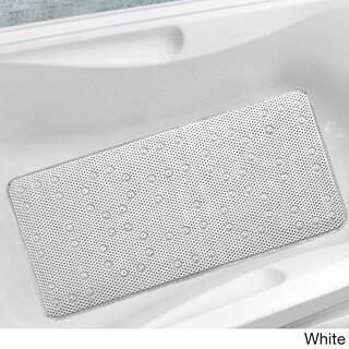 Antibacterial Cushioned Waffle Bathtub Mat - 17 x 36 (Option: White)