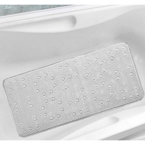 Antibacterial Cushioned Waffle Bathtub Mat - 17 x 36