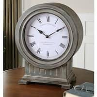Uttermost Chouteau Dusty Grey Antiqued Mantel Clock