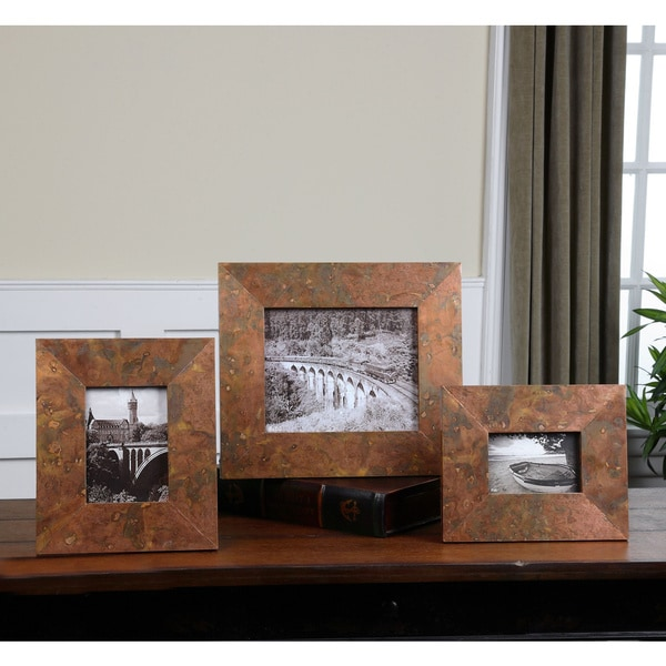 Uttermost Ambrosia Oxidized Copper Photo Frames (Set of 3). Opens flyout.