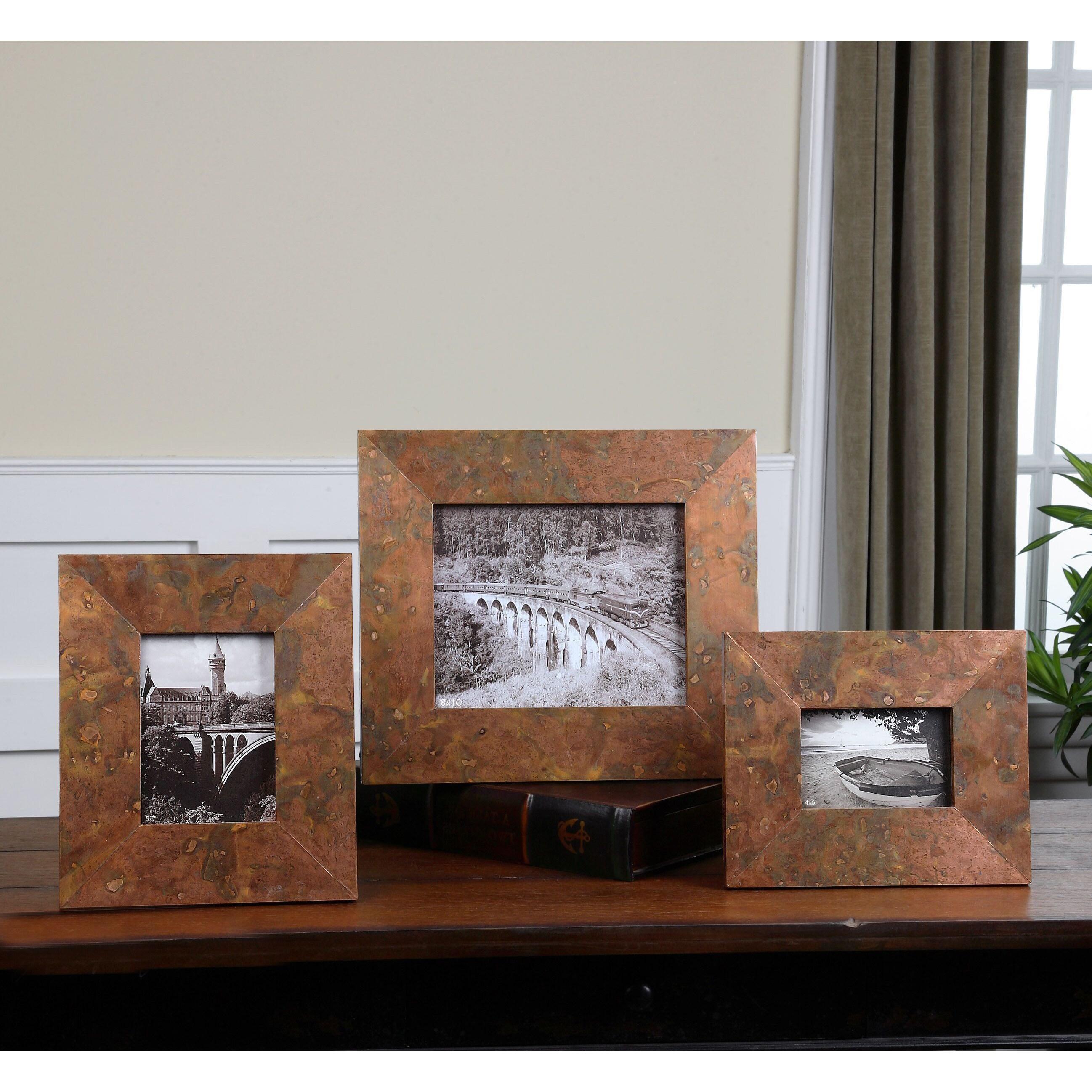 UTTERMOST Ambrosia Oxidized Copper Photo Frames (Set of 3...