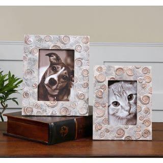 Uttermost Polyresin Spirula Stone-look Photo Frames (Set of 2)