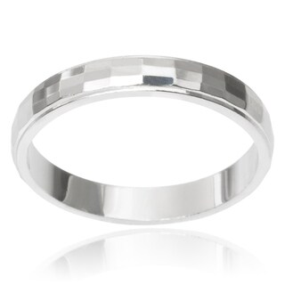 Journee Collection Sterling Silver Band (3MM)