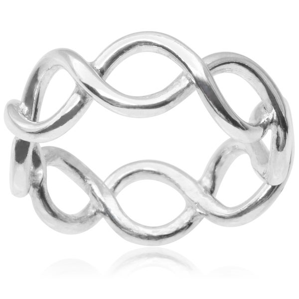 Journee Collection Sterling Silver Band (7 mm)