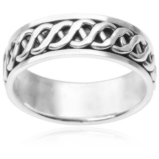 Vance Co. Men's Sterling Silver Spinner Band (8 mm)