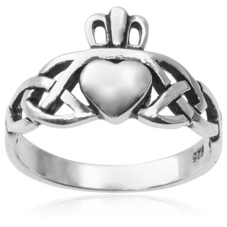 Journee Collection Sterling Silver Heart Ring