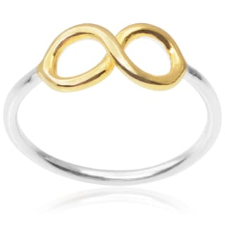 Journee Collection Sterling Silver Infinity Ring