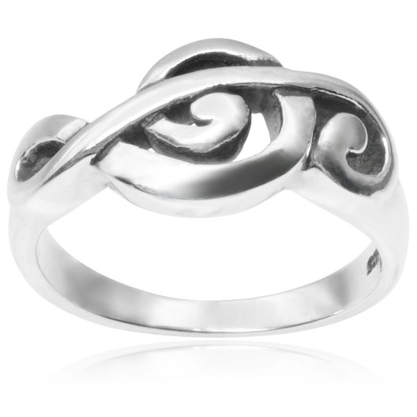 Journee Collection Sterling Silver Music Note Ring