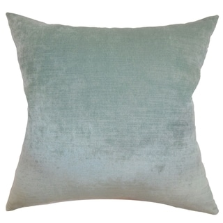 Carson Carrington Niva Aqua Blue Feather and Down Fill Throw Pillow