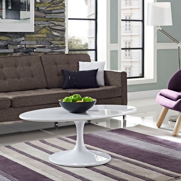 Shop Lippa 42 Quot White Coffee Table On Sale Free