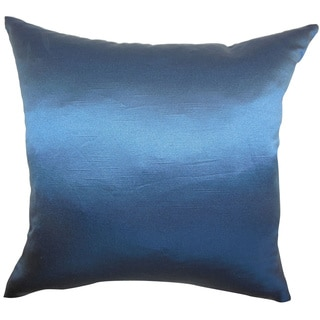 Karsen Navy Plain 18-inch Feather and Down Filled Throw Pillow (As Is Item)