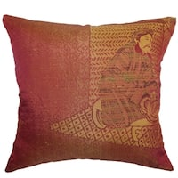 Harb Copper Traditional Feather and Down Filled Throw Pillow
