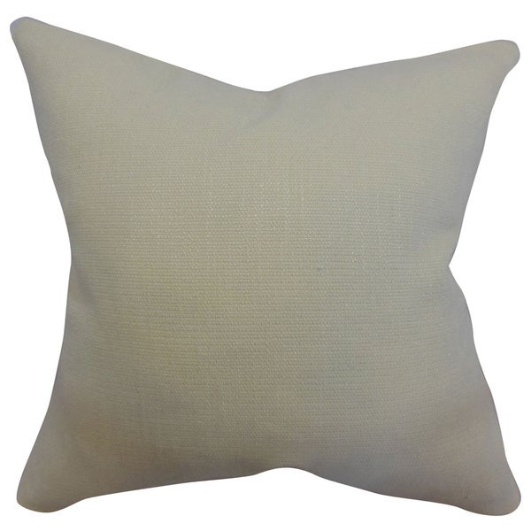 Dajana Dove Plain Feathered Filled Throw Pillow