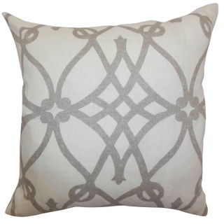 Quenild Charcoal Moorish Feathered Filled 18-inch Throw Pillow