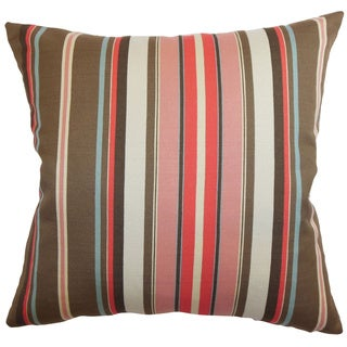 Janeah Stripes Feathered Filled  Throw Pillow