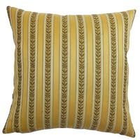 Lakesha Stripes Feathered Filled 18-inch Throw Pillow