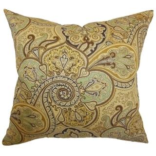 Saewara Spa Paisley Feathered Filled 18-inch Throw Pillow