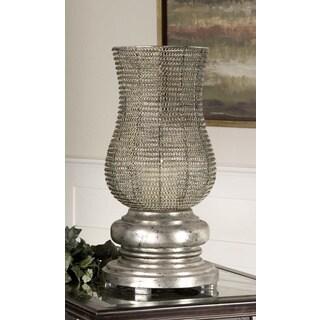 Uttermost Rickma Silvertone Woven Metal Candleholder
