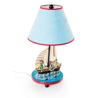 Nursery lamps find great nursery decor deals shopping at overstock guidecraft hand painted pirate table lamp aloadofball Gallery