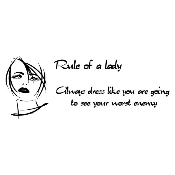 Rule of a Lady Quote Vinyl Wall Decal