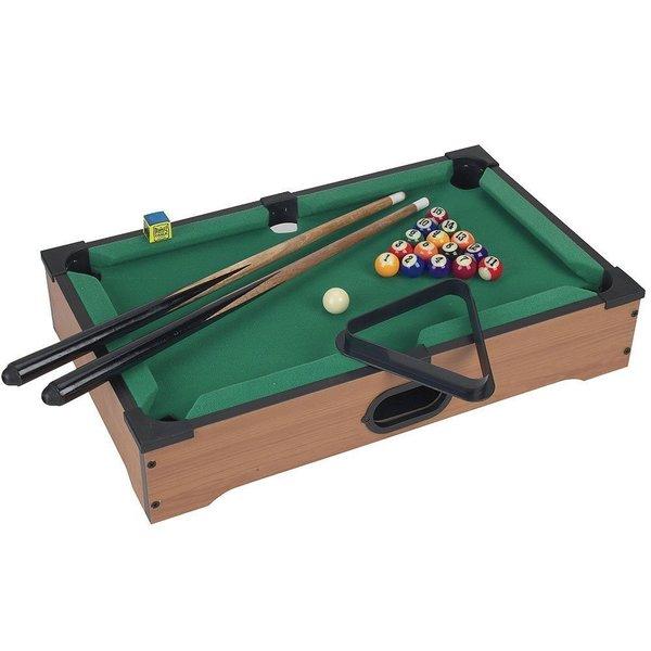 Kole Imports Mini Tabletop Pool Table Wood Billiards 21-piece Set