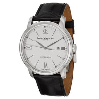 Baume and Mercier Men's MOA08592 'Classima Executives' White Steel Swiss Automatic Watch|https://ak1.ostkcdn.com/images/products/9091254/Baume-and-Mercier-Mens-MOA08592-Classima-Executives-White-Steel-Swiss-Automatic-Watch-P16280418.jpg?impolicy=medium