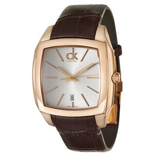 Calvin Klein Men's K2K21620 'Recess' Rose Gold PVD Stainless Steel Swiss Quartz Watch