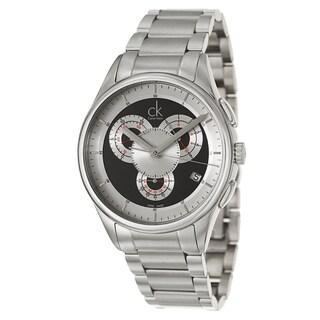 Calvin Klein Men's K2A27104 'Basic' Stainless Steel Chronograph Watch