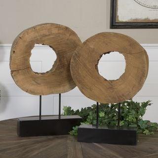 Uttermost Ashlea Natural Mango Wood Sculptures (Set of 2)
