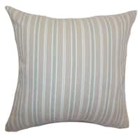 Bencelina Lime Stripes Feature Filled Throw Pillow