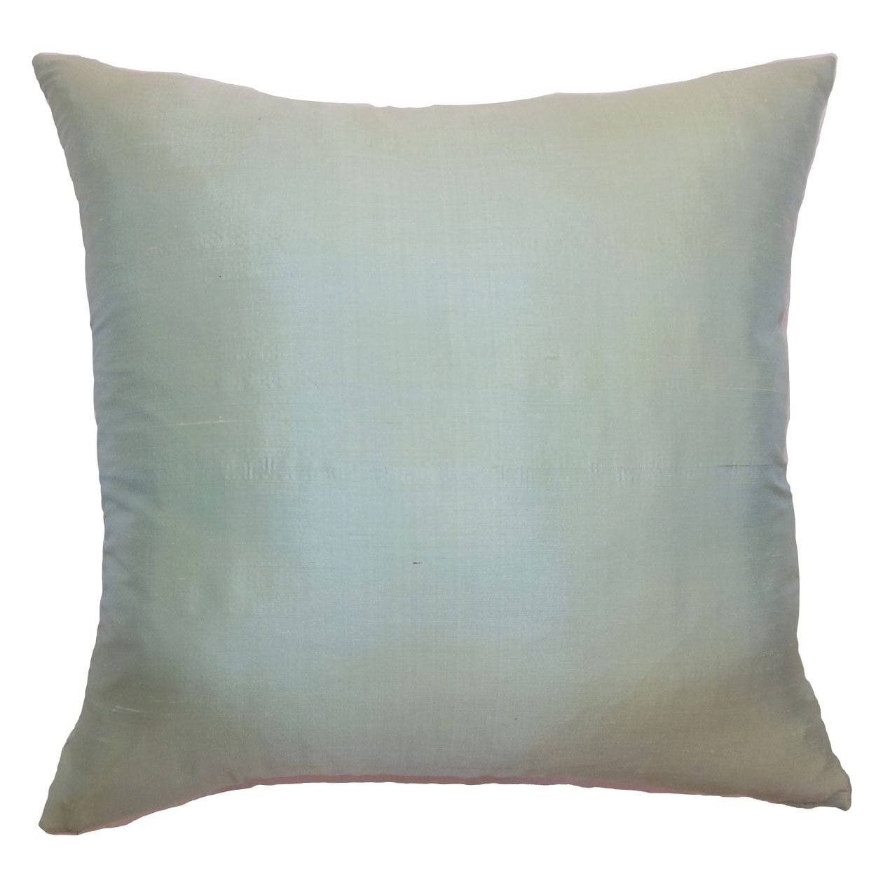Constance Seafoam Solid 18-inch Feather and Down Filled Throw Pillow (20 x 20)