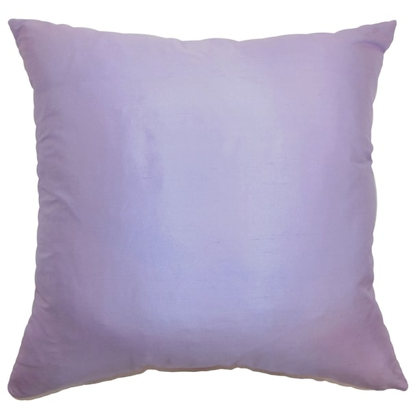 Desdemona Lavender Solid Feather and Down Filled Throw Pillow