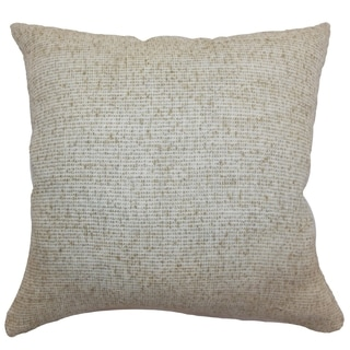 Francisca Oatmeal Weave 18-inch Feather and Down Filled Throw Pillow