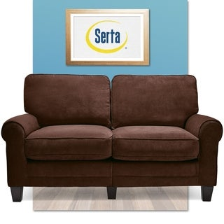 Serta RTA Trinidad Collection 61-inch Chocolate Fabric Loveseat Sofa